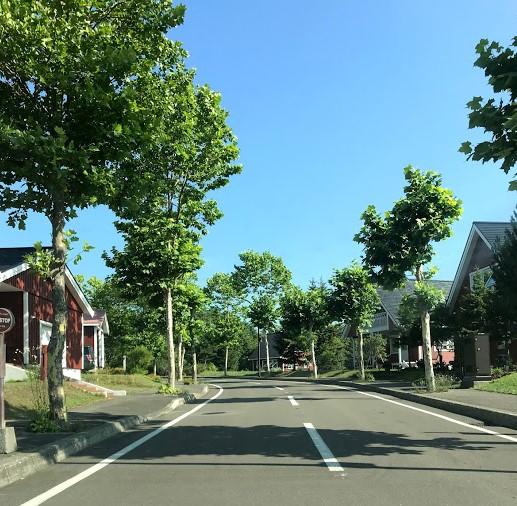 当別スウェーデンヒルズの街並み