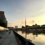 隅田川テラスをスカイツリーに向かってラン。